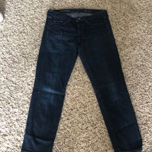 Jcrew toothpick ankle jeans
